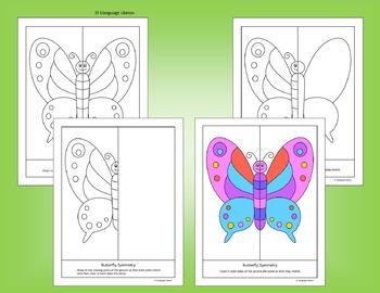 Symmetry - Fun Bugs Pictures - NO PREP