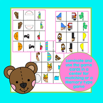 Symmetry Card Game and Activity Pages for Preschool & Kindergarten