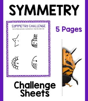 Symmetry Challenge Bundle:  5 Sheets!