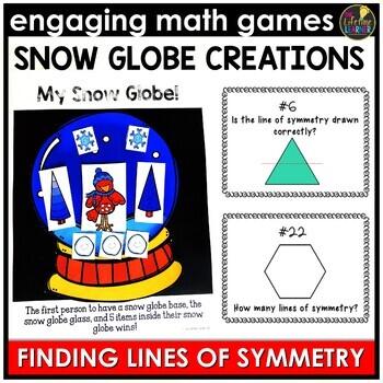 Symmetry Christmas Fourth Grade Math Center