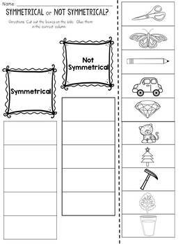 Symmetry: Cut and Paste Sorting Activity