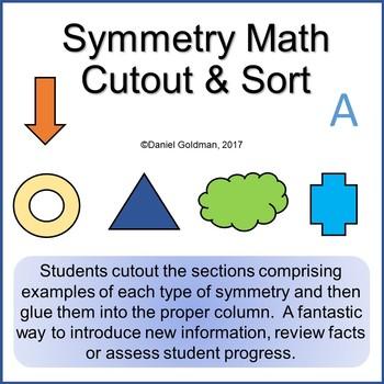 Symmetry Cutout Sort and Paste Math Grades 3-4