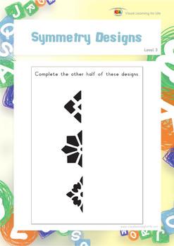 Symmetry Designs (Visual Perception Worksheets)