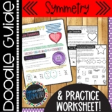 Symmetry Doodle Guide & Practice Worksheet; Line, Point, R