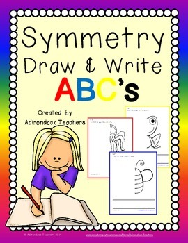 Symmetry  Draw and Write ABC's