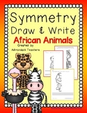 Symmetry Draw and Write African Animals