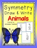 Symmetry Draw and Write  Animals