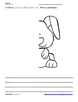 Symmetry Draw and Write  Animals