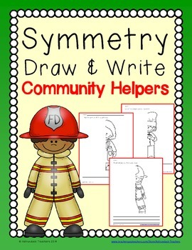 Symmetry Draw and Write  Community Helpers