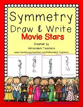 Symmetry  Draw and Write Movie Stars