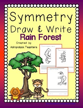 Symmetry  Draw and Write Rainforest Life