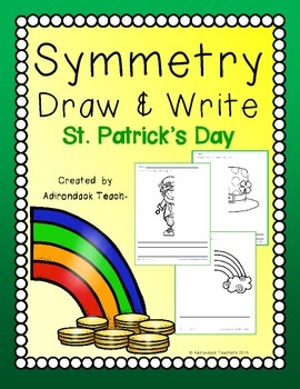 Symmetry  Draw and Write St. Patrick's Day
