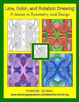 Symmetry Drawing Lesson: Line, Color, & Rotation