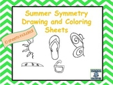 Symmetry Drawing and Coloring Sheets--Finish the Picture