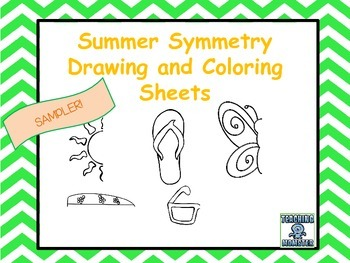 Symmetry Drawing and Coloring Sheets--Finish the Picture SAMPLER