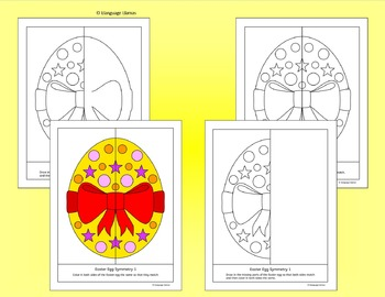 Symmetry - Easter Pictures - No prep geometry fun