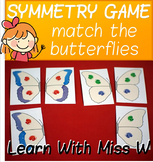 Symmetry picture matching game