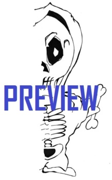 Symmetry Halloween Skeleton Falloween Drawing Art Fun Coloring Missing Body