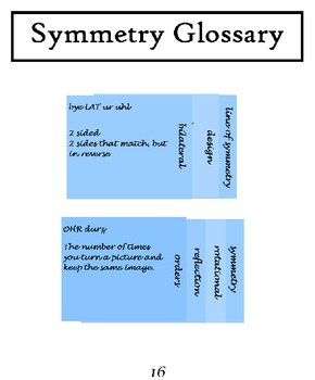 Symmetry Interactive Notebook  (INCLUDED in Art of the Pennsylvania Dutch)