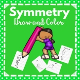 Kindergarten -2nd Grade-Symmetry -Draw and Color