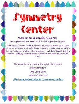 Symmetry Math Center