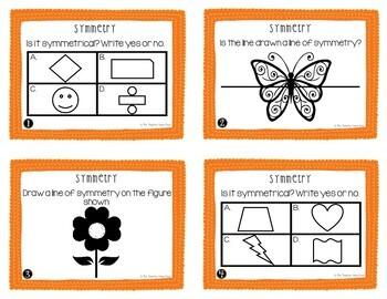 Symmetry Task Cards for 4th Grade