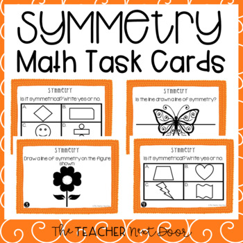 Symmetry Task Cards for 4th Grade