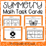 4th Grade Symmetry Task Cards | Symmetry Math Center | Sym