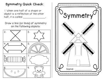 Symmetry Minibook with QUIZ