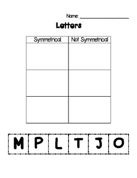 Symmetry Printables - Insect Theme