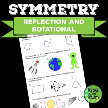 Symmetry: Reflection and Rotational Worksheet