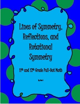 Symmetry, Reflections, and Rotational Symmetry Lesson Plan Bundle