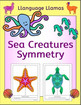 Symmetry Sea Creatures / Animals NO PREP Geometry