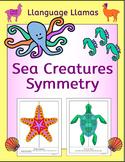 Symmetry Ocean Sea Creatures / Animals NO PREP Geometry