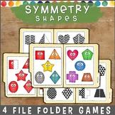 Symmetry Shapes File Folder Games