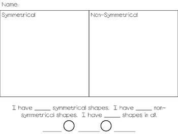 Symmetry Sort Activity (Differentiated)