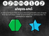 Symmetry Sorting Cards (2D Shapes)