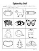 Symmetry Sorting Center and Follow-Up Sorting Worksheet - Geometry
