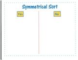 Symmetry Sorting Template Kindergarten