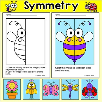 Symmetry - Spring and Summer Math - Math Centers or Mornin