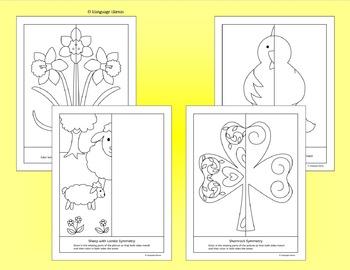 Symmetry - Spring & St Patrick's Day - NO PREP