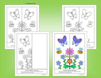 Summer Symmetry - NO PREP Fun Geometry Activities