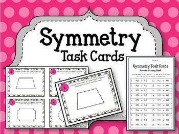 Symmetry Task Cards. Is this shape Symmetrical? Math Center