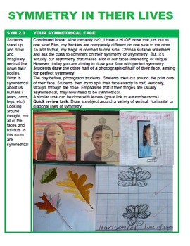 Symmetry Unit with 10+ Lessons for Grades P 1 2 3 & 4