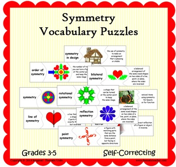 Symmetry Vocabulary Matching Puzzles