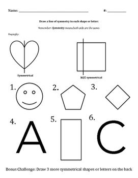 Symmetry Worksheet
