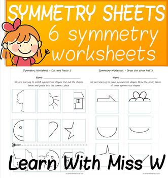 Symmetry Worksheet Pack