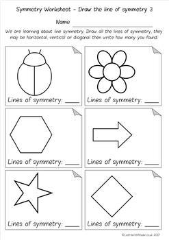 Symmetry: Drawing Lines / Count the Lines / Finish the Shape - 4 ...