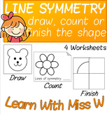 Symmetry: Drawing Lines / Count the Lines / Finish the Sha