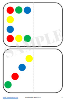 Symmetry activity cards using counters